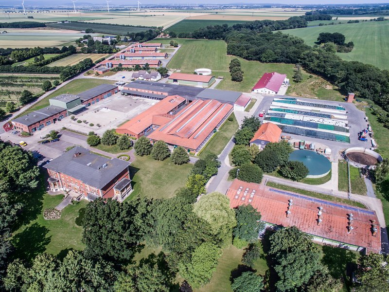 Farm for Education and Research in Ruthe, aerial view